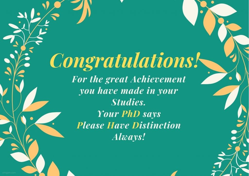PhD congratulations Messages , Images and wishes