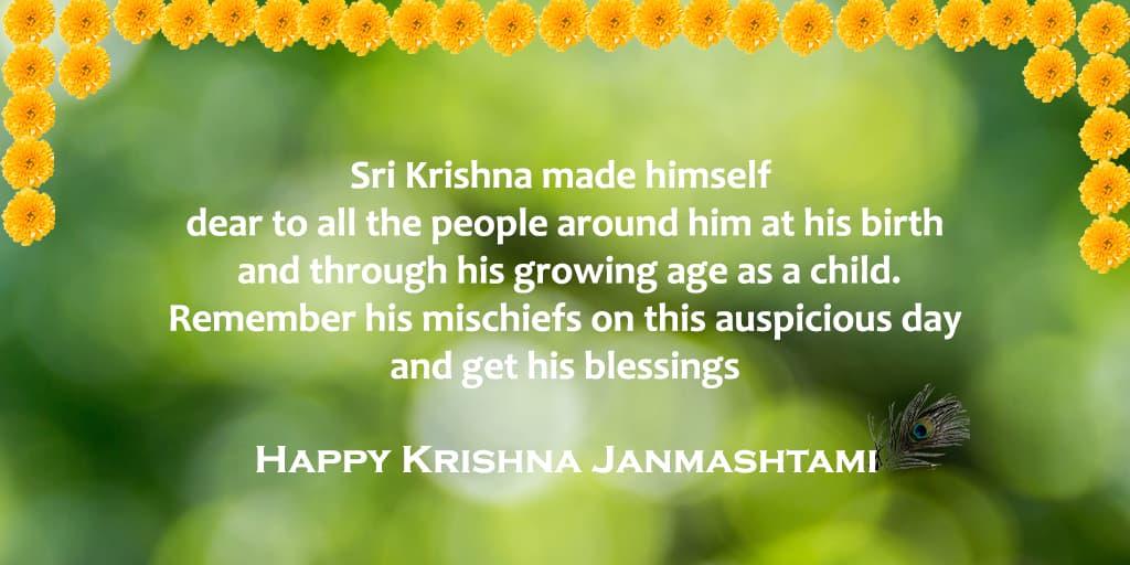 Happy Janmashtami quotes images